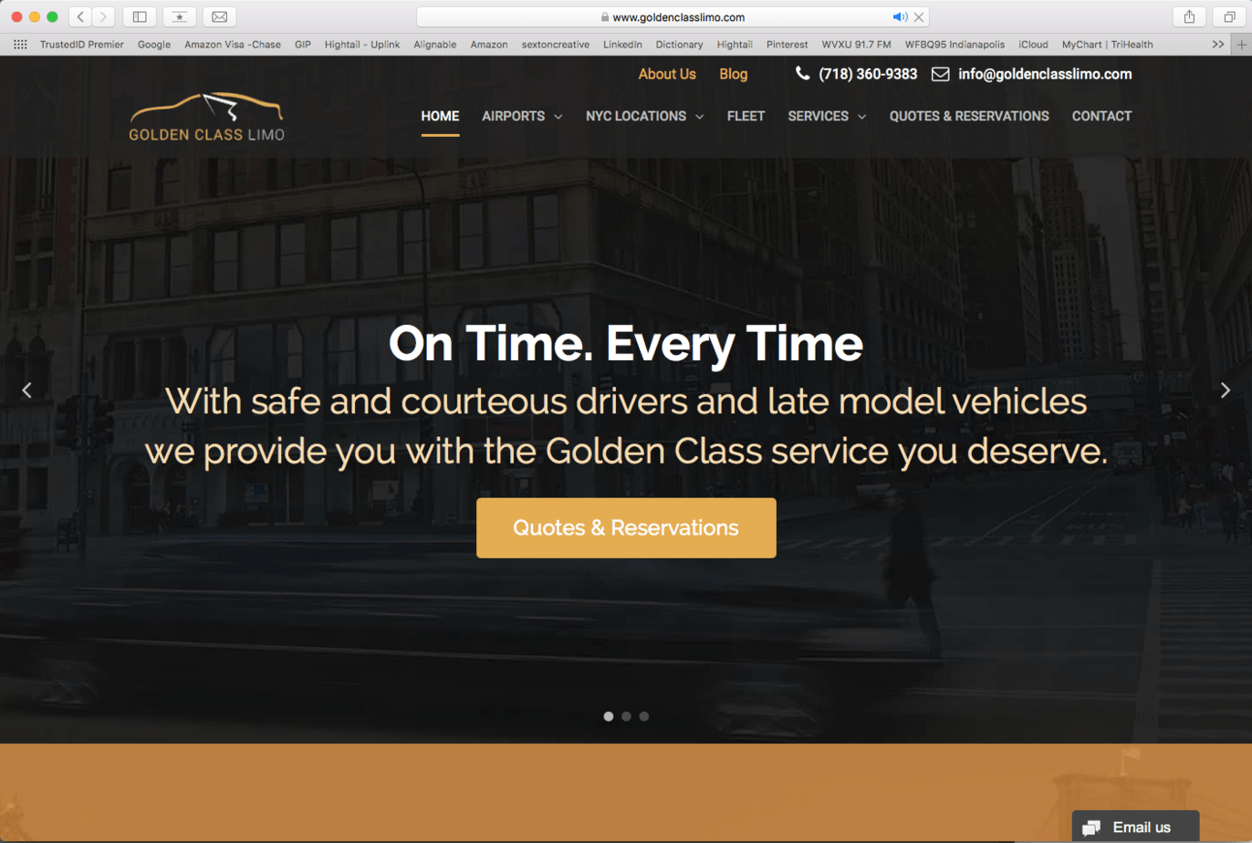 limo company example website